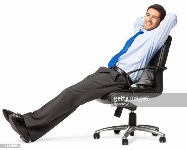 Relaxed Young Businessman - Isolated