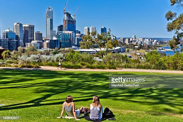 Relaxing at Kings Park Perth