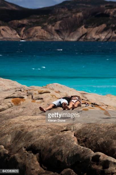 Relaxing at Lucky Bay
