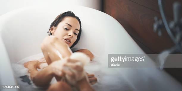 Relaxing bath.