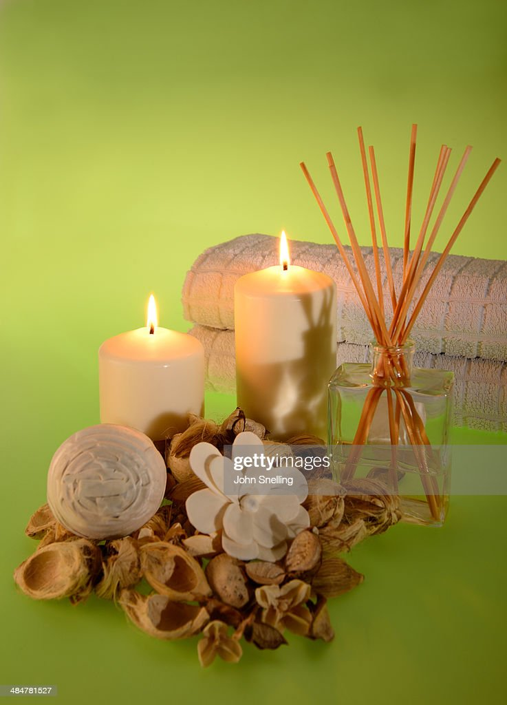 Relaxing Candles Stock Photo | Getty Images
