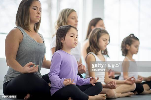 Relaxing During a Yoga Class