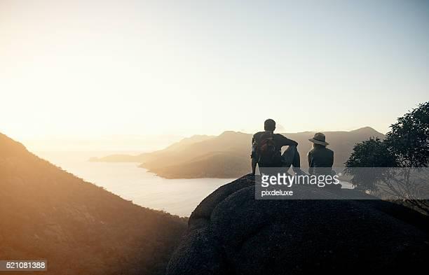 Relaxing in hiker's heaven