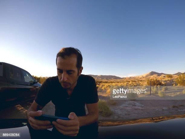 Relaxing in Mojave Desert
