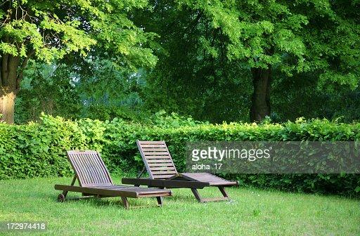 Relaxing in the garden