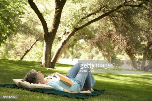 Relaxing on the lawn