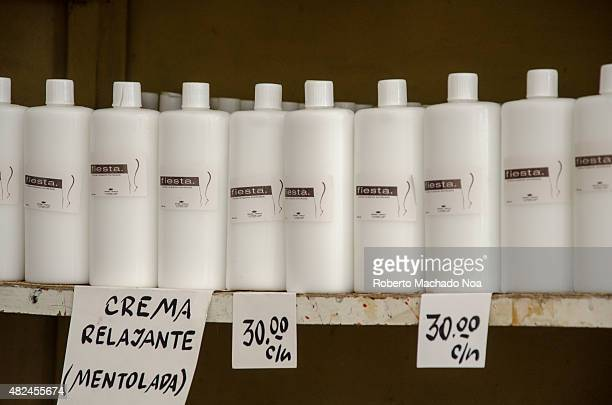 A relaxing spa treatment cream for sale in Cuba After the Raul Castro made economic changes the first national productions appear in stores at...