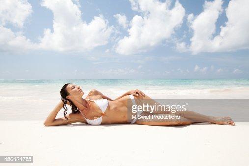 relaxing sunbathing