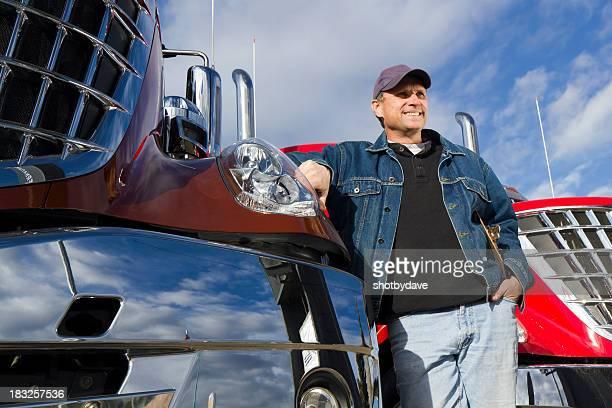 Chauffeur de camion de détente