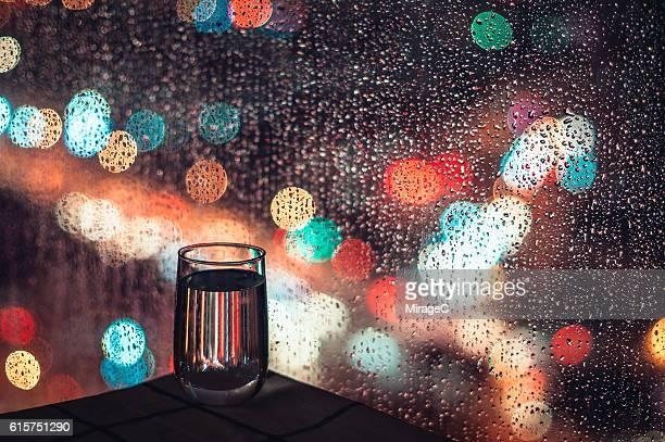 Relaxing Water in Rainy Night
