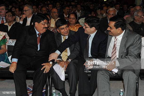 Reliance Industries Group President Parimal Nathwani Chairman Torrent Group Sudhir Mehta Essar Group CEO and Essar Energy Vice Chairman Prashant Ruia...