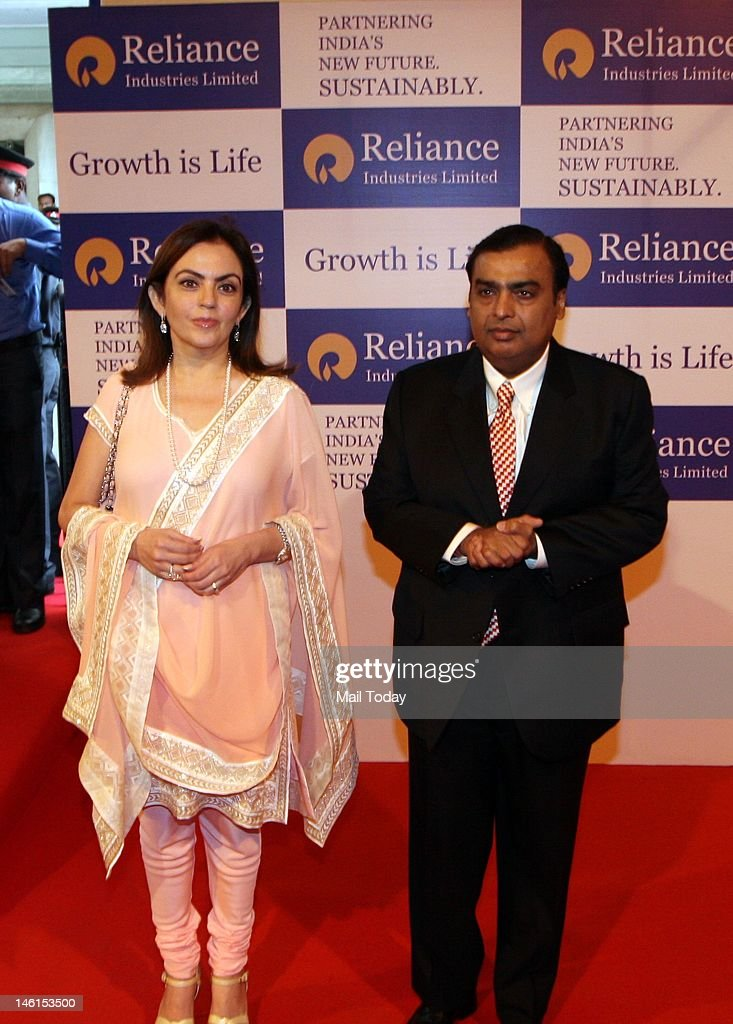 Reliance Industries Limited Chairman Mukesh Ambani and his wife Nita Ambani at the company Annual General Meeting in Mumbai on Thursday.