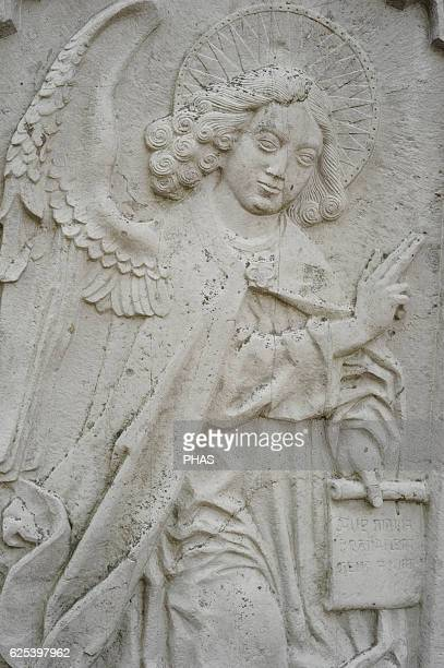 Relief depicting an angel St Mary Street Gdansk Poland
