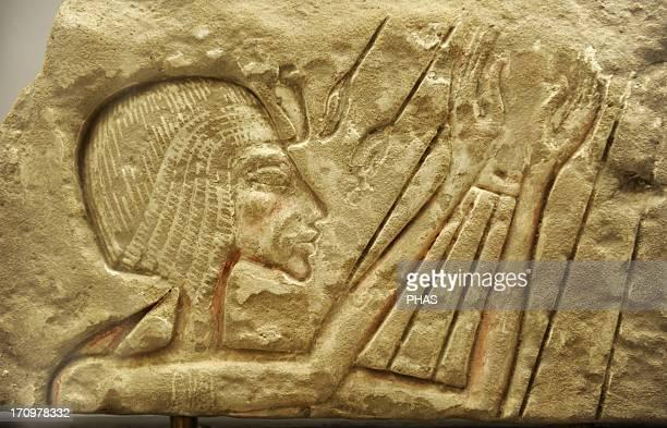 Relief of a pharaoh Akhenaten or Nefertiti Sandstone Probably from Karnak Egypt Amarna Period Ny Carlsberg Glyptotek Copenhagen Denmark