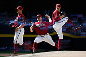 Relief pitcher Andrew Chafin of the Arizona Diamondbacks pitches against the Pittsburgh Pirates during the MLB game at Chase Field on April 26 2015...