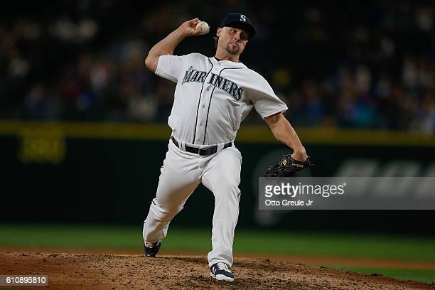 Relief pitcher Dan Altavilla of the Seattle Mariners pitches against the Houston Astros at Safeco Field on September 16 2016 in Seattle Washington
