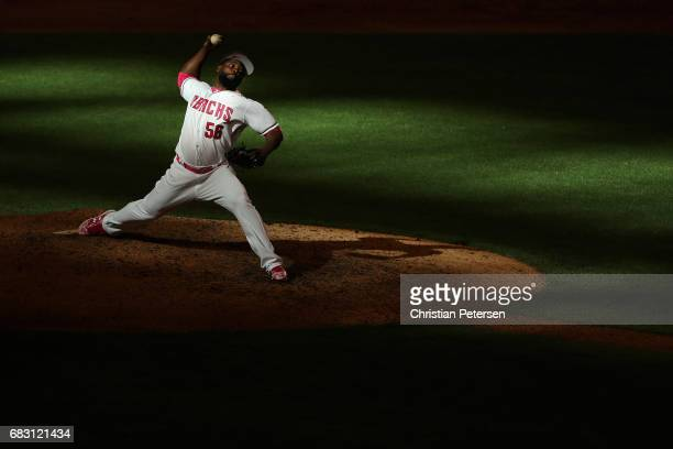 Relief pitcher Fernando Rodney of the Arizona Diamondbacks pitches against the Pittsburgh Pirates during the ninth inning of the MLB game at Chase...