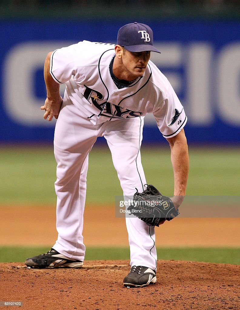 Relief pitcher Grant Balfour #50 of the Tampa Bay Rays pitches against the Chicago White Sox in Game 1 of the American Leaugue Divisional Series at Tropicana Field on October 2, 2008 in St. Petersburg, Florida. The Rays defeated the White Sox 6-4.