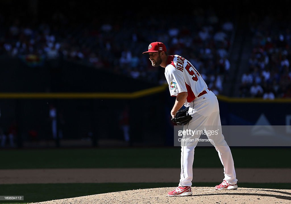 Relief pitcher Jimmy Henderson #51 of Canada pitches against USA during the World Baseball Classic First Round Group D game at Chase Field on March 10, 2013 in Phoenix, Arizona. USA defeated Canada 9-4