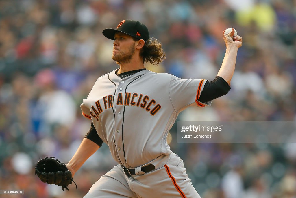 Relief pitcher Steven Okert #32 of the San Francisco Giants delivers to home plate during the ninth inning against the Colorado Rockies at Coors Field on September 4, 2017 in Denver, Colorado. The Rockies defeated the Giants 4-3.