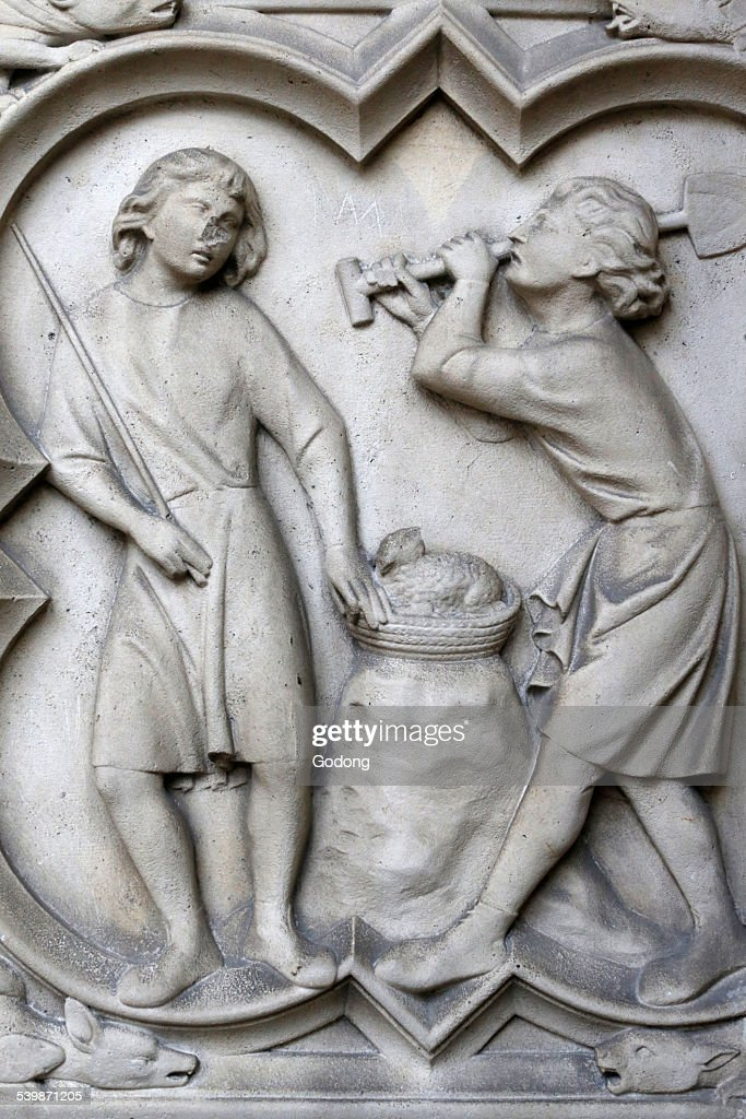 Relief sculpture in the Holy Chapel, Paris