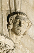 Relief Sculpture of a Head in Ely Cathedral