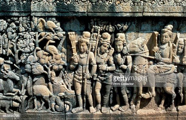 Relief showing scene from a sutra Barabudur Java c750850 Photograph