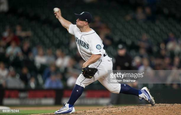Reliever Dan Altavilla of the Seattle Mariners delivers a pitch during a game against the Minnesota Twins at Safeco Field on June 6 2017 in Seattle...