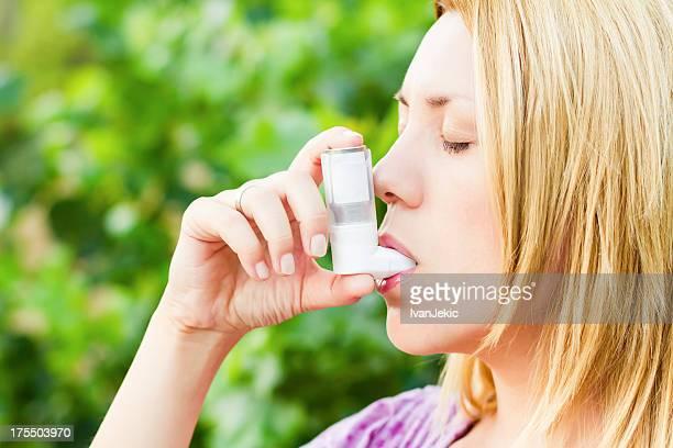 Entspannende asthma von pollen Allergie