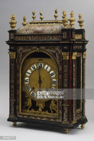 Religieuse clock ca 1700 clock with plate signed Louis Ourry Paris France 16th17th century