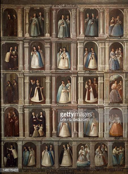 Religious attire of the NeoHispanic convents 18th century Mexican painting Tepotzotlan Museo Nacional Del Virreinato