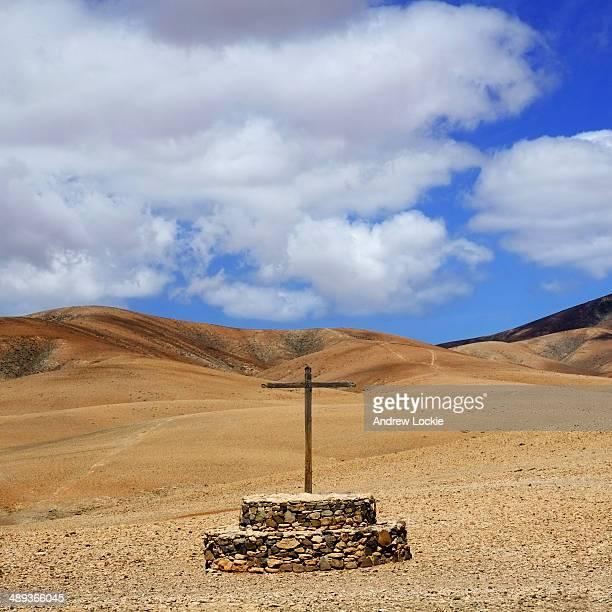Religious Christian Cross In A Desert