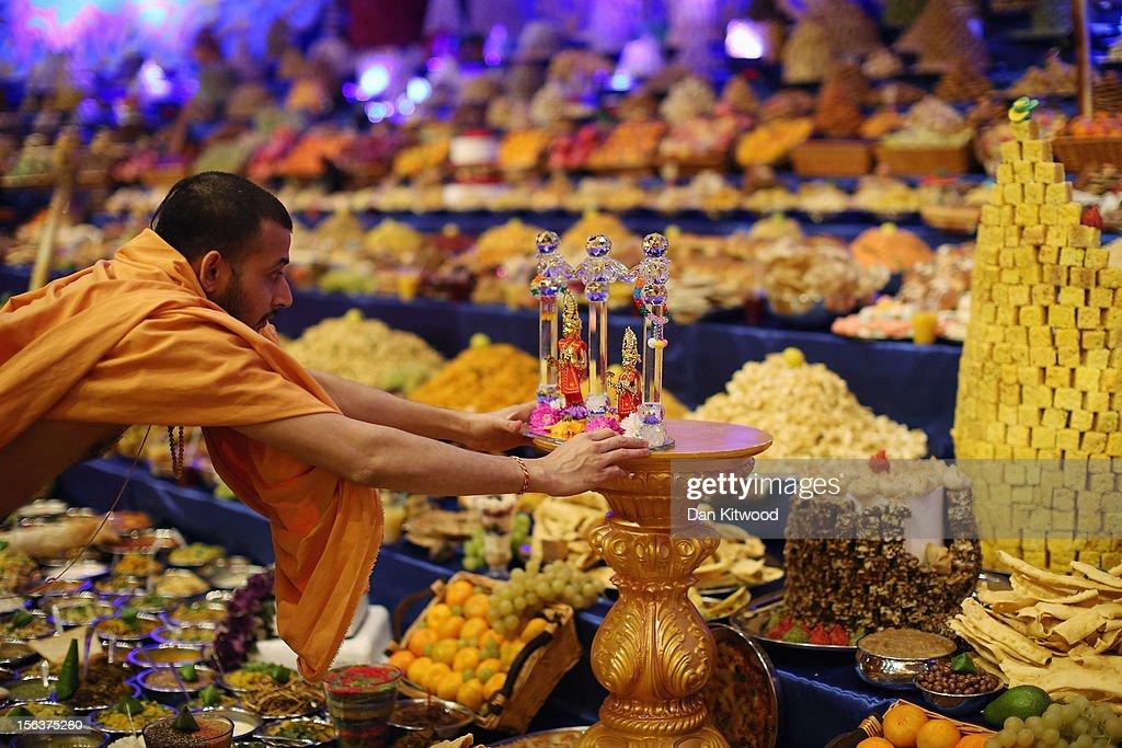 ... Annakut Are Celebrated At The BAPS Shri Swaminarayan Mandir In Neasden