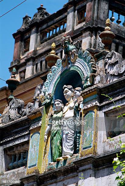 Religious motifs adorn the gate of a mansion in Karaikudi in the Chettinad region of Tamil Nadu Numbering more than 60 Chettinad's mansions were...