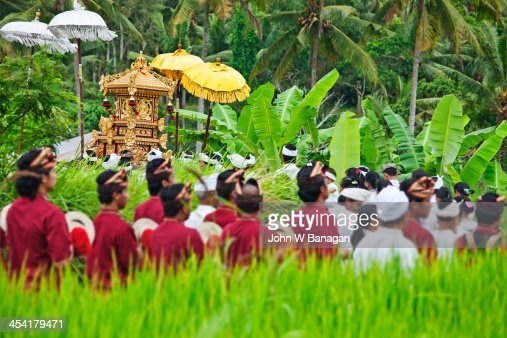 Religious procession, Ubud, Bali : Photo