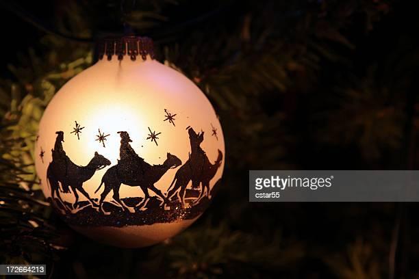 Religiosas: Los tres reyes magos Silueta de adorno de navidad