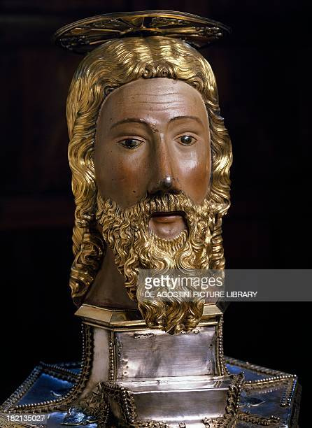 Reliquary bust of saint John the Baptist attributed to Giacomo Jaquerio Italy 15th century Aosta Museo Del Tesoro