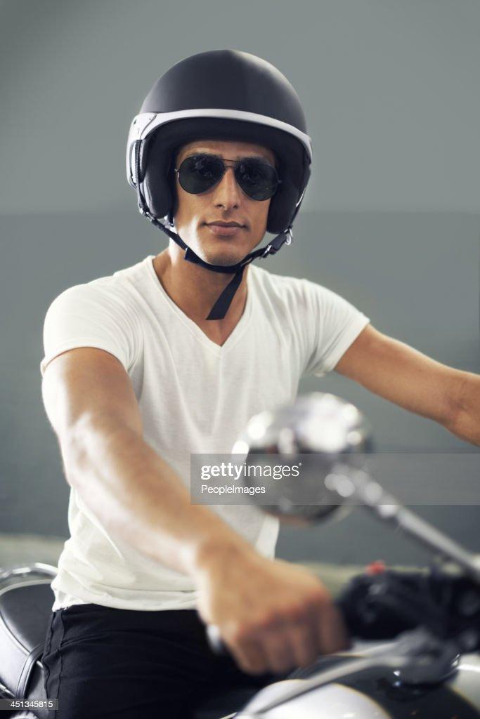 Relishing his ride