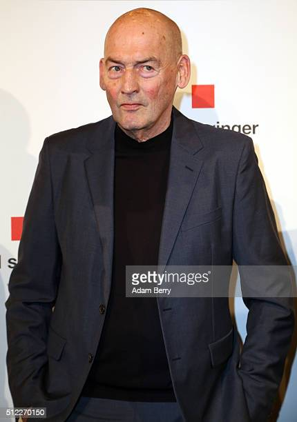Rem Koolhaas arrives for the presentation of the first Axel Springer Award on February 25 2016 in Berlin Germany