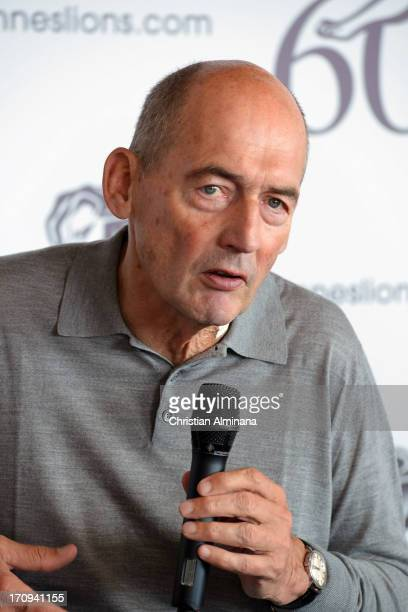 Rem Koolhaas attends the Speaker's Corner during the Cannes Lions International Festival of Creativity at Palais des Festivals on June 20 2013 in...