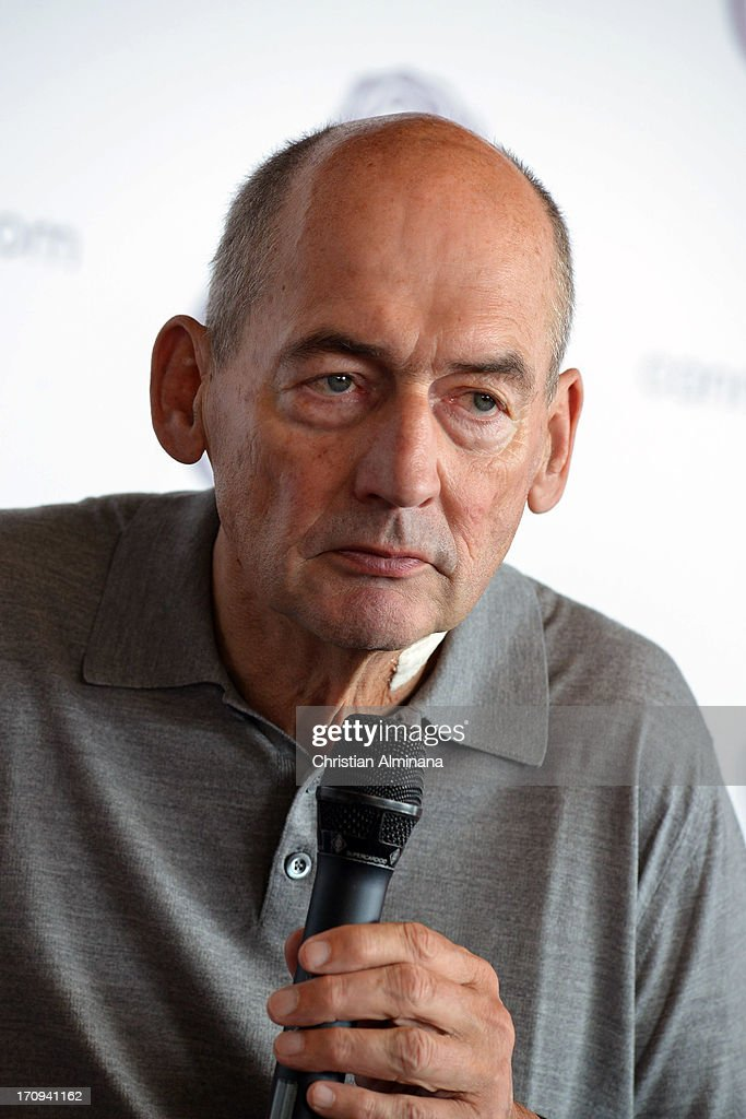 <a gi-track='captionPersonalityLinkClicked' href=/galleries/search?phrase=Rem+Koolhaas&family=editorial&specificpeople=808645 ng-click='$event.stopPropagation()'>Rem Koolhaas</a> attends the Speaker's Corner during the Cannes Lions International Festival of Creativity at Palais des Festivals on June 20, 2013 in Cannes, France.