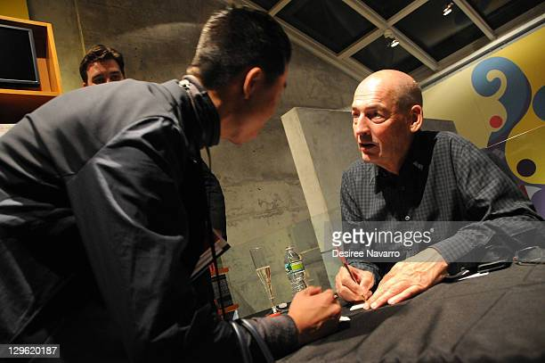 Rem Koolhaas promotes 'Project Japan Metabolism Talks' at TASCHEN on October 18 2011 in New York City