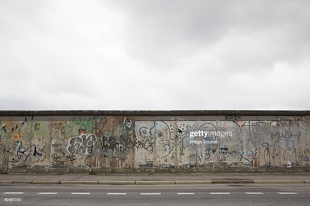 Remaining stretch of the berlin wall : Stock Photo