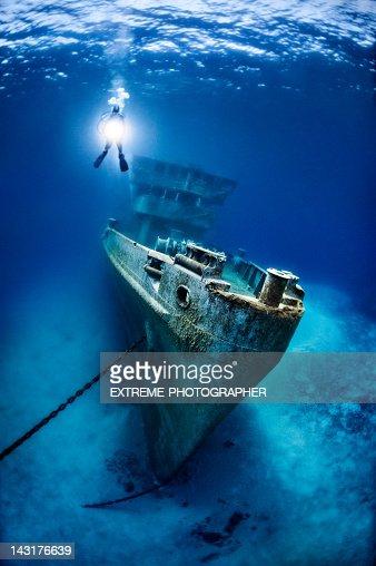 Remainings of the Kittiwake Shipwreck