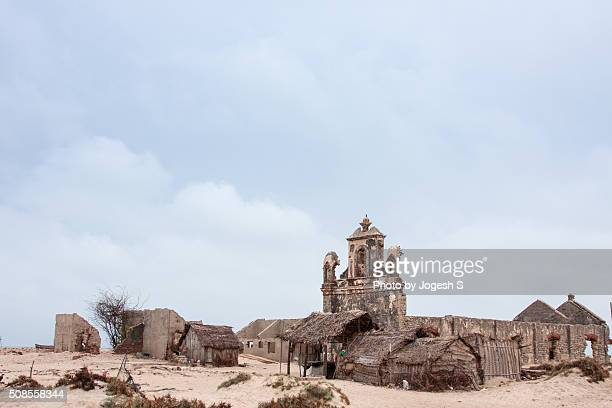 Remains of a church destroyed by 1964 cyclone