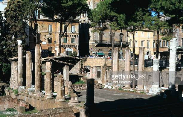 Remains of a Roman sanctuary Via Torre Argentina Rome This complex at Largo Argentina containing four temples was only excavated during the 20th...