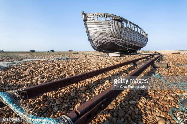 Remains of an Old Wooden Fishing Boat, Dungeness