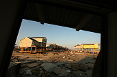 Remains of beach houses on Galveston's lowlying West End as damage from Hurricane Ike litters the west end of Galveston Island more than two weeks...