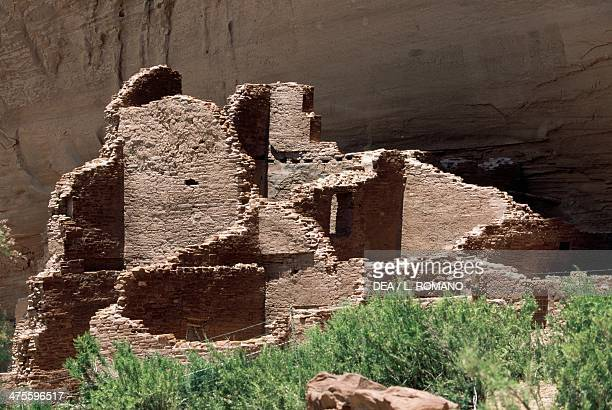 Remains of the White House settlement established by the Anasazi in the Pueblo Era Canyon de Chelly National Monument Navajo Indian Reservation...