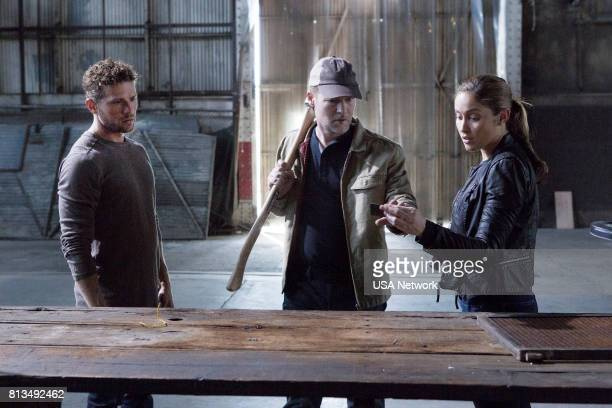 SHOOTER 'Remember the Alamo' Episode 202 Pictured Ryan Phillippe as Bob Lee Swagger Todd Lowe as Colin Hobbs Jaina Lee Ortiz as Angela Tio